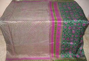Henna Grey Pure Silk Antique Sari Saree SALE Good deal Established daily deals PROMO NR #1NS6Q