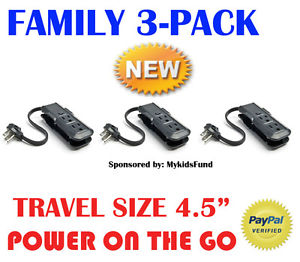 WOW! BLACK FRIDAY Relatives PACK-3 Outlet MINI Energy Strip Journey Day by day Deals-NIB