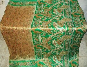 Brown Green Pure Silk Vintage Sari Saree Have on each day bargains engagement Chic #1NQCF