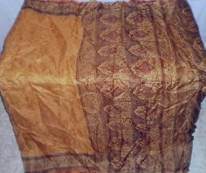 Golden Pure Silk Vintage Sari Saree Cloth every day deals Several Content NR #1NRVF