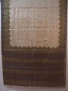 Cream Henna Paper Silk Classic Sari Saree Cloth Design and style Female daily specials #1NSIH