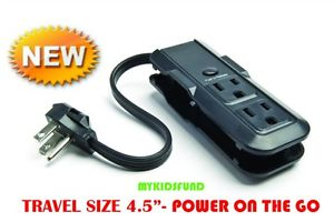 Journey Everyday Bargains! two-Aspect- 3 Outlet MINI Electric power Strip-by Philips-4.5″ Gift Thoughts