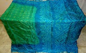 Pistachio Green Pure Silk Antique Sari Saree SALE daily deals Shops Trend #1NPJA