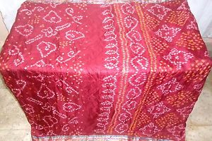 Maroon Pure Silk four yd Vintage Antique Sari Saree day by day promotions Bollywood NR #1NPNI