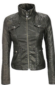 Ladies Jean Leather Jacket Sz XL Each day Offers
