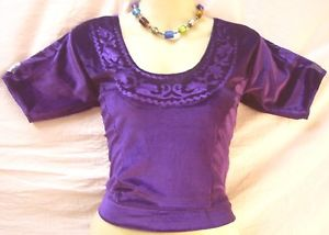 Violet Velvet Blouse Major Sari Saree Choli 34″ distinctive supply day-to-day promotions #1NTQ8