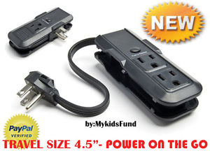 Travel Day by day Deals! DBL SIDED electrical power strip w/3 outlet*Great Luggage COMPANION-NIB