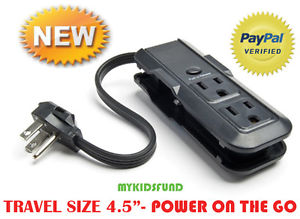 Vacation Day-to-day Specials!-three outlet Mini power strip-(Great Luggage COMPANION) NIB**