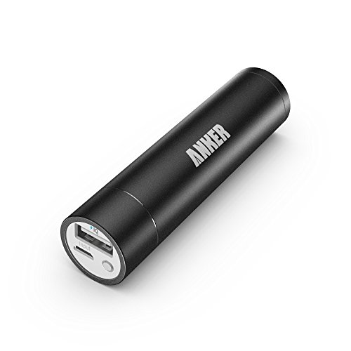 Anker® 2nd Gen Astro Mini 3200mAh Lipstick-Sized Transportable Exterior Battery Charger with PowerIQ™ Engineering for Apple iphone, Samsung, HTC and More (Black)