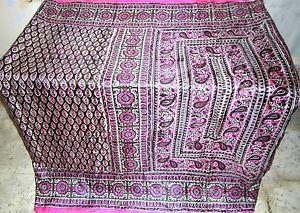 Pink Henna Pure Silk Antique Sari Saree SALE every day deals Good Decoration #1O08P