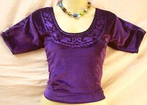 Dark Purple Velvet Shirt Leading Sari 34″ authorised distributor day by day deals #1O1Z2