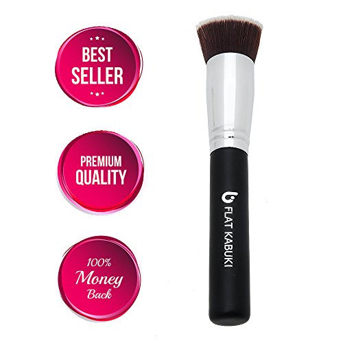 Most effective Basis Brush Flat Major Kabuki: Blends Liquids, Lotions + Powders for an Airbrushed Finish! 100% Money Back Assure Synthetic Dense Bristles That Do Not Lose, Recommended by Major Make-up Artists Even for Rookies, Helps make Wonderful Presents!