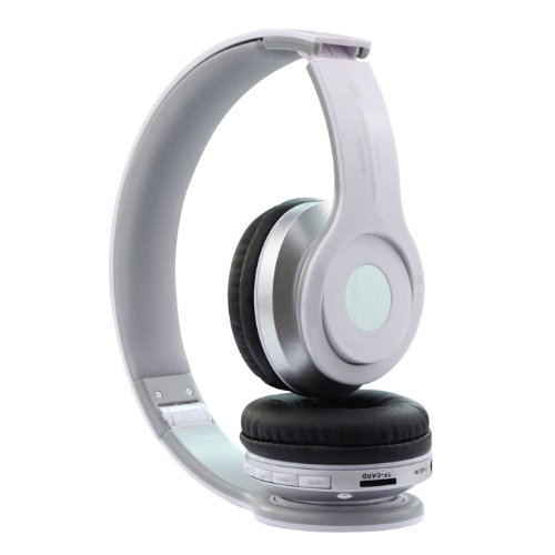 Leading Seller Most recent Foldable Wi-fi Bluetooth Stereo Headset Headphones Mic for Iphone Samsung HTC (White)