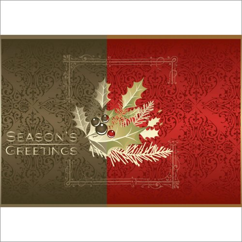 Xmas Holiday Card H1005. This attractive design and style is a greatest vendor. It brings together both regular and up to date variations into just one hanging graphic. Classy and effective and projecting your holiday greetings. Best for both particular and company use. Your gratification is guaranteed.
