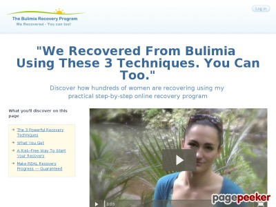 The BRP – BulimiaRecovery Web page