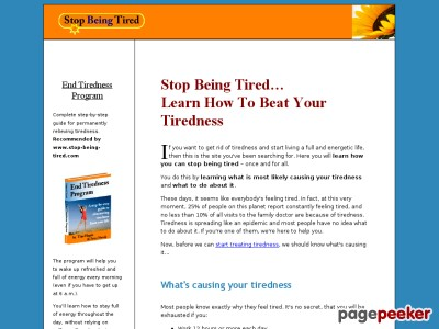 Finish Tiredness Plan – the only manual established to permanently ease tiredness