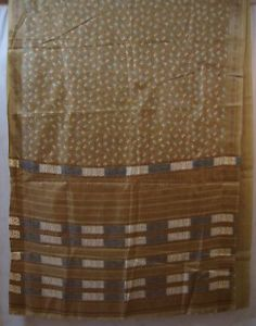 Khaki Paper Silk Sari Saree every day offers Indian Mart indien London Gifts #1SEEQ