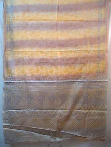Yellow Paper Silk Sari Saree daily promotions Designer Japan worldwide seller US #1SE9E