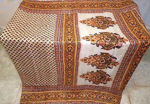 Yellow Black Pure Silk Antique Sari Saree SALE Material PROMO every day discounts #1SE5U