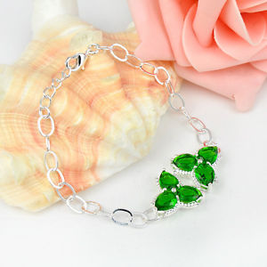 """9.18Ct Everyday Specials Marquise Twinkling Peridot Gemstone Silver Bracelet seven 3/four"""""""