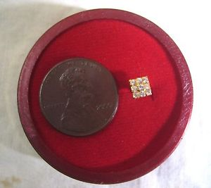 22k Good Yellow Gold Nose Pin Stone Square 10th Calendar year on G22 each day promotions #1SK58