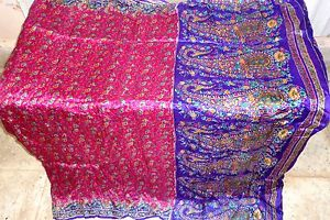 Rani Violet Pure Silk four yard Classic Sari Saree day-to-day offers Shock Present #1SM05