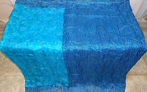 Aqua Navy Blue Pure Silk four yd Classic Antique Sari Saree Totally free each day deals #1SM16