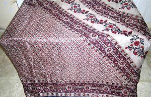 Off-white Pink Pure Silk Antique Sari Saree SALE slicing each day specials Woman #1SMGK