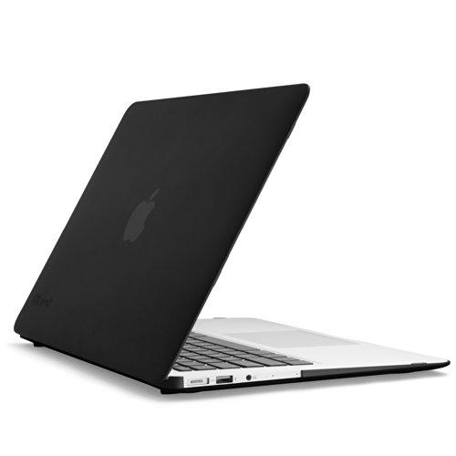 Speck Merchandise SeeThru Satin Gentle Touch, Hard Shell Case for MacBook Air thirteen-Inch, Black (SPK-A2472)