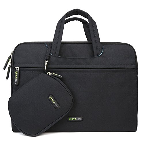 Evecase 13.3 – 14 Inch Dual Layer Security Pill /Laptop computer Universal Sleeve Bag Carrying Circumstance Briefcase with Tackle + Pouch Circumstance and Mouse Pad – Black