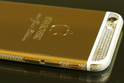 Swarovski 24ct Gold Apple iphone 6 4.7-inch 128gb Unlocked and Brand New (Swarovski Gold White)