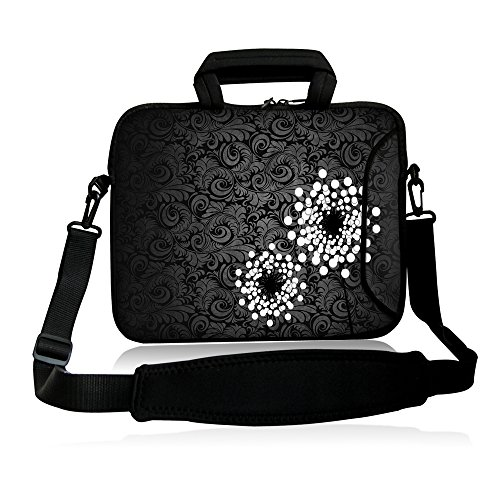 FSHB-004 NEW BLACK & White flower 9.7″ 10″ 10.1″ 10.2 inch Neoprene Laptop Netbook pill Shoulder Scenario Carrying sleeve Bag address with strap Pocket For Apple iPad Air iPad 1 2 three four 5 fifth /Samsung Galaxy Be aware GT-P5110/Tab three/four /Tab Pro 10.1″ /Tab S 10.5″/ASUS Transformer Guide T100/T100TA/Toshiba Excite 10/Google Android Nexus 10 Pill/HP Mini Dell XPS 10 Acer Aspire A single ASUS VivoTab RT 10″ 10.1″ TouchScreen Android four. Pill