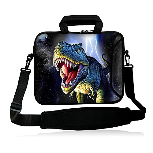 """Fshb13-007 NEW Style Dinosaur 12″ 12.1″ 12.five"""" thirteen"""" thirteen.three"""" Inch Laptop computer Notebook Computer Shoulder Bag Messenger Bag Pouch Situation Protect Handle Bag Holder Briefcase with Smooth Carrying Handle More Aspect Pocket and Removable Shoulder Strap for thirteen.three"""" Apple MacBook Pro,air/thirteen.three"""" Samsung Collection five nine Ultrabook/HP Folio / ENVY thirteen/ thirteen.three"""" Lenovo IdeaPad /?Yoga Pro thirteen/thirteen.three"""" Acer Aspire Samsung Ultrabook HP/Sony Pro thirteen/Duo thirteen/Suit 13A/thirteen.three inch Macbook Pro New Retina HP Dell Acer Sony ASUS Laptop computer Pc"""
