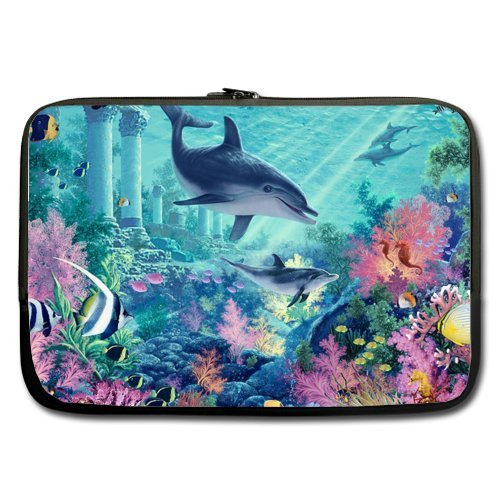15 inch Two Sides dolphin Laptop computer Sleeve Circumstance Bags for MacBook Pro,Macbook Air Notebook