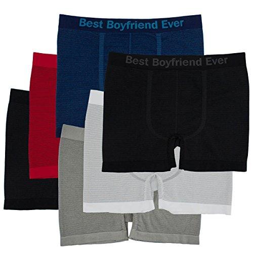 6pk Men's Seamless Athletic Compression Boxer Briefs Best Boyfriend At any time Underwear