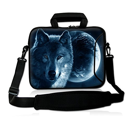 """Fshb13-010 NEW Vogue Wolf 12″ 12.one"""" 12.five"""" 13″ 13.3″ Inch Notebook Notebook Computer system Shoulder Bag Messenger Bag Pouch Scenario Go over Deal with Bag Holder Briefcase with Delicate Carrying Deal with Further Facet Pocket and Removable Shoulder Strap for 13.3″ Apple MacBook Pro,air/13.3″ Samsung Collection five nine Ultrabook/HP Folio / ENVY 13/ 13.3″ Lenovo IdeaPad /?Yoga Pro 13/13.3″ Acer Aspire Samsung Ultrabook HP/Sony Pro 13/Duo 13/Healthy 13A/13.3 inch Macbook Pro New Retina HP Dell Acer Sony ASUS Notebook Laptop"""