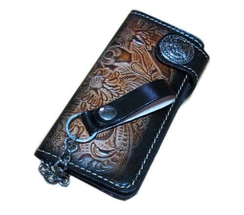 """Very best Vendor"" WITH SNAP CLOSES BIKER / TRUCKER CLUTCH WALLET WITH SAFTY CHAIN *"