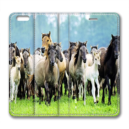 Steed Design and style Brand New Leather-based Circumstance for Iphone six Plus 10 Thousand Steeds Gallop