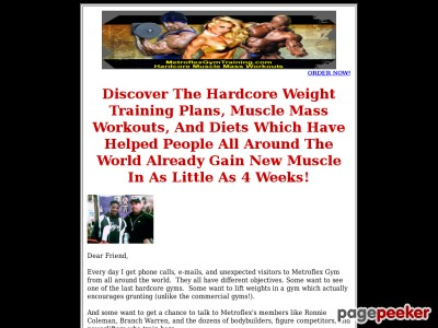Metroflex Gyms Down-to-earth Guideline To Your Great Physique