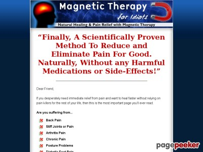 Magnetic Remedy For Idiots – Normal Therapeutic And Discomfort Reduction With Magnetic Remedy