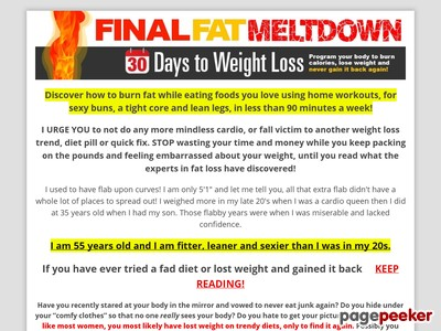 Final Unwanted fat Meltdown – thirty Times To Weightloss