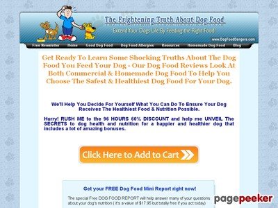 Canine Food items Opinions – Shocking Canine Food items Components Exposed