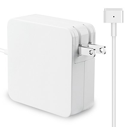Macbook Air Charger, Replacement AC 45w Magsafe 2 T-Tip 2nd-Gen Power Adapter AC Charger for Macbook Air 11-inch and 13-inch (White,1pack)