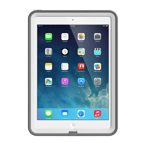 LifeProof FRE iPad Air Waterproof Case Retail Packaging – WHITE/GREY (1ST Generation iPad Air Only)