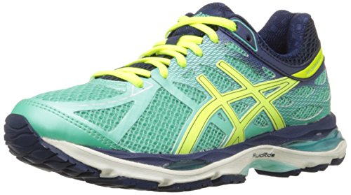 ASICS Women's Gel-cumulus 17 Running Shoe, Aqua Mint/Flash Yellow/Navy, 7.5 M US