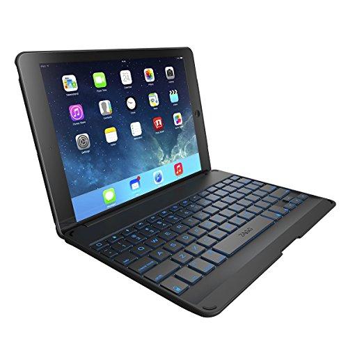 ZAGG Folio Case with Backlit Bluetooth Keyboard  for iPad Air – Black