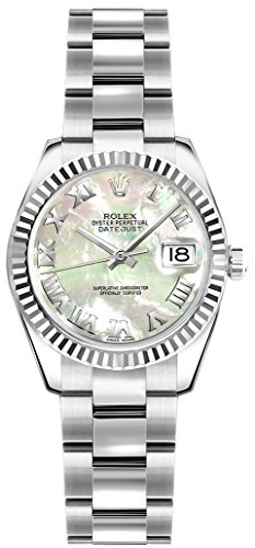Rolex Lady-Datejust 26 179174 Womens Watch w/ Mother of Pearl Roman Numeral Dial
