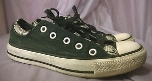 CONVERSE ALL STAR Women's Black Lowtop Sneakers Size 7