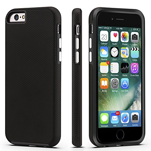 iPhone 6 / 6s Case, CellEver Dual Guard Protective Shock-Absorbing Scratch-Resistant Rugged Drop Protection Cover for Apple iPhone 6 / 6S (Black)
